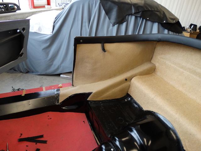 Porsche 365 GT Speedster Innenverkleidung - Fine Car Interiors - Matthias Stellrecht Oldtimer Aufbereitung Innenausstattung Teppichsatz