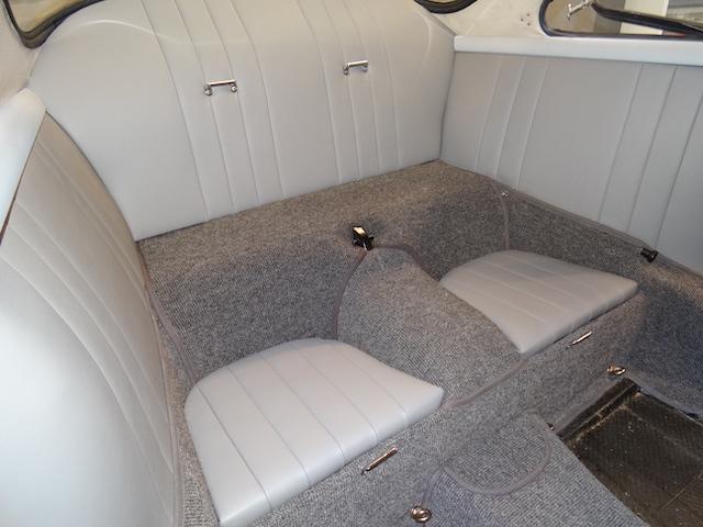 Porsche 365 C Coupé Blau Innenverkleidung - Fine Car Interiors - Matthias Stellrecht Oldtimer Aufbereitung Innenausstattung Teppichsatz Grau
